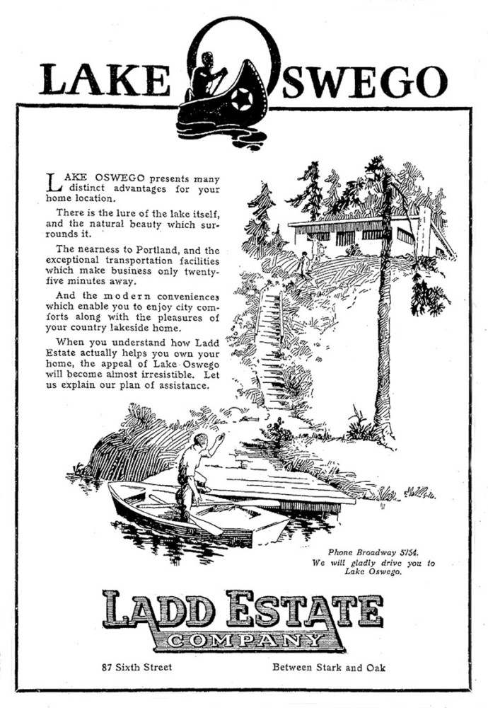 Ladd Estate Company advertisement from The Oregonian, July 5, 1923.
