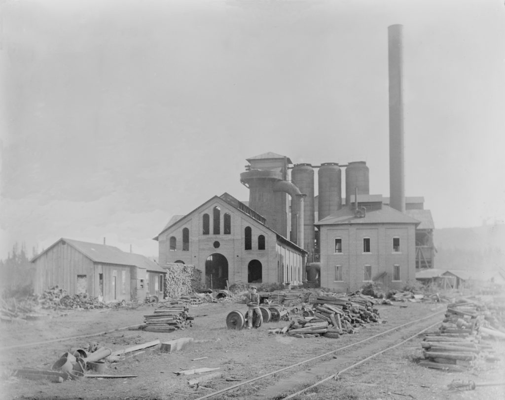 The Casting House and Furnace of the second iron works. Courtesy of Lake Oswego Public Library.